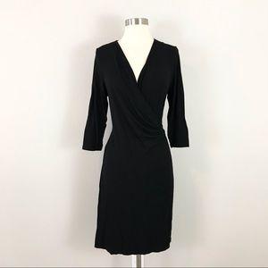 Tommy Bahama medium Jersey Faux Wrap Dress Black